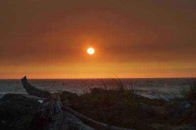 Photograph - Smokey Sunset by Adria Trail