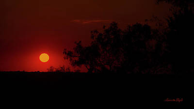 Photograph - Smokey Sunset by Karen Slagle
