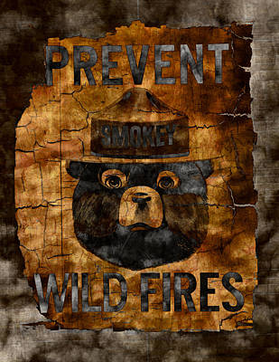 Smokey The Bear Only You Can Prevent Wild Fires Art Print