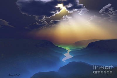 Sun Rays Painting - Smokey Valley by Corey Ford