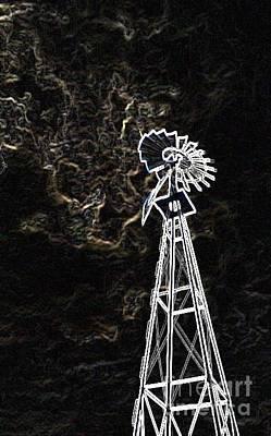 Photograph - Smokey Windmill by Cindy New