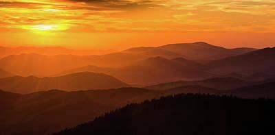 Photograph - Smokie Mountain Ridges by Jennifer