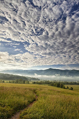 Cades Cove Photograph - Smokies Cloudscape by Andrew Soundarajan