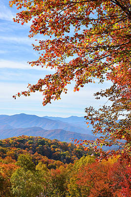 Photograph - Smokies In Autumn by Alan Lenk