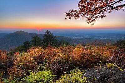 Photograph - Smokies Overlook In Autumn by Debra and Dave Vanderlaan