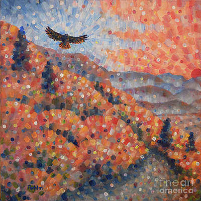 Red Tail Hawk Painting - Smokies / Red-tailed Hawk by Jim Rehlin