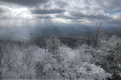 Photograph - Smokies Snow Squall by Mike Eingle