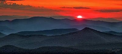 Photograph - Smokies Sunset by David A Lane