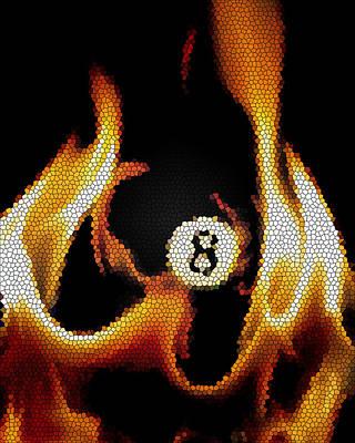 Billiards Hall Digital Art - Smokin' 8 Ball II by Chris Fraser