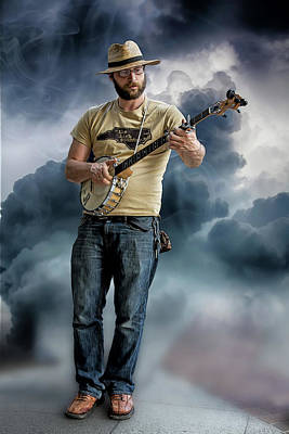 Photograph - Smokin Banjo by John Haldane