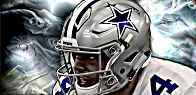 Digital Art - Smokin Hot Dak Prescott by Carrie OBrien Sibley