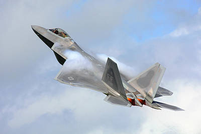 Art Print featuring the digital art Smokin - F22 Raptor On The Go by Pat Speirs