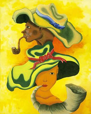 Herold Alvares Painting - Smokin by Herold Alvares