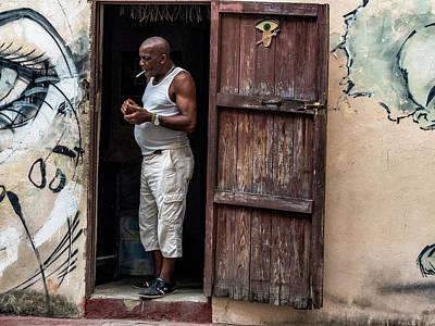 Photograph - Smokin In The Doorway by Robin Zygelman