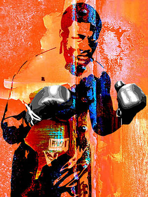 White Glove Mixed Media - Smokin Joe Frazier Collection by Marvin Blaine