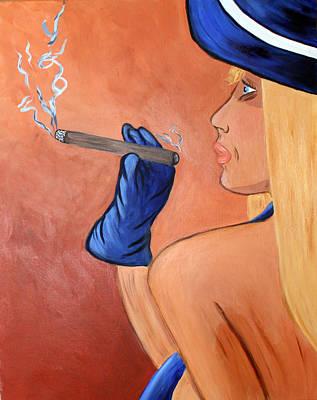 Smokin Madam Print by Victoria  Johns