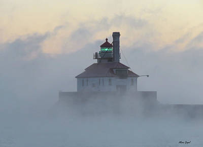 Duluth Photograph - Smokin' South Pier by Alison Gimpel