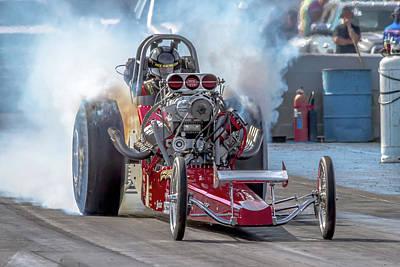 Smokin' Tires Art Print by Bill Gallagher