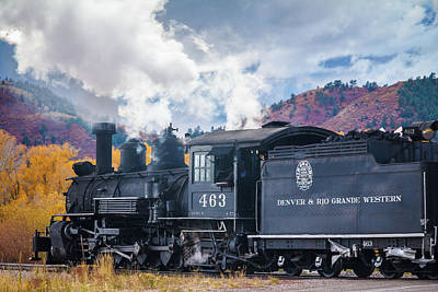 Photograph - Smokin Train 463 by Steven Bateson