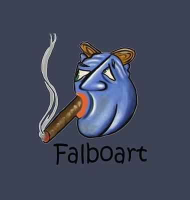 Painting - Smoking Blue Man by Anthony Falbo