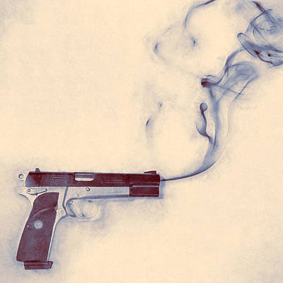 Smoking Gun Print by Scott Norris