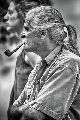 Photograph - Smoking His Pipe by John Haldane