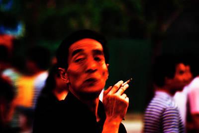 Man Smoking In The Street #1 Original by Alex Volgin