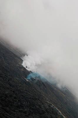 Photograph - Smoking Lava Fields by Alina Oswald