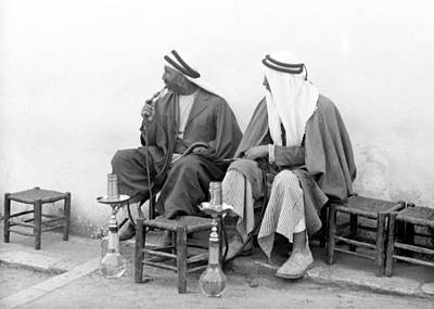 Photograph - Smoking Nargilies In 1920 by Munir Alawi