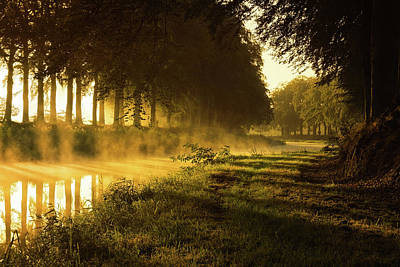 River Mist Photograph - Smoking River by Martin Podt