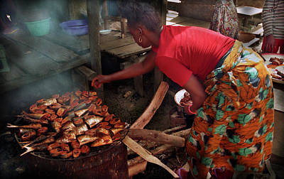 Photograph - Smoking The Fish by Muyiwa OSIFUYE
