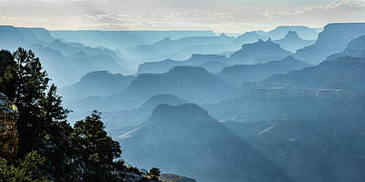 Photograph - Smoky Canyons by Steven Sparks