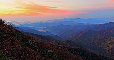 Dawn From Standing Indian Mountain Art Print by Daniel Reed