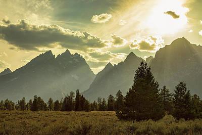 Photograph - Smoky Golden Light On The Tetons by James BO Insogna