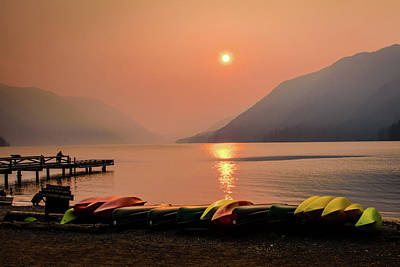 Photograph - Smoky Lake Crescent by Michael McAuliffe