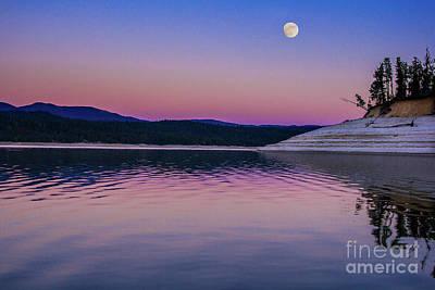 Photograph - Smoky Moonlight Idaho Journey Landscape Photography By Kaylyn Franks  by Kaylyn Franks