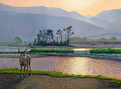 Mule Painting - Smoky Morning Glitter by Paul Krapf