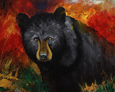 Painting - Smoky Mountain Black Bear  by Gray Artus