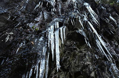 Photograph - Smoky Mountain Ice by Charles Bacon Jr