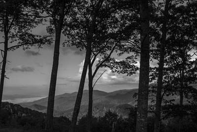 Smoky Mountain In Black And White  Art Print by John McGraw