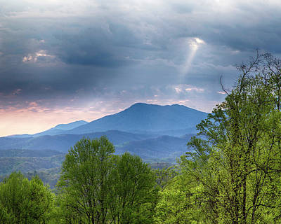 Photograph - Smoky Mountain Light by Alan Raasch