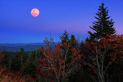 Photograph - Smoky Mountain Moonrise by Justin Kelefas