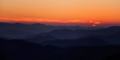 Photograph - Smoky Mountain Sunset by Lana Trussell