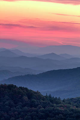 Photograph - Smoky Mountain Sunset by Teri Virbickis