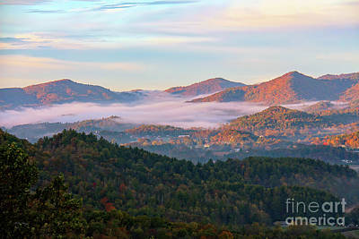 Photograph - Smoky Mountain Valley Fog by Bill And Deb Hayes