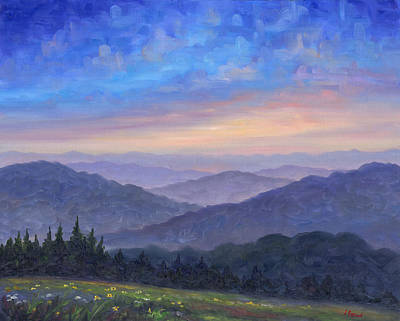 Blue Ridge Painting - Smoky Mountain Wildflowers by Jeff Pittman