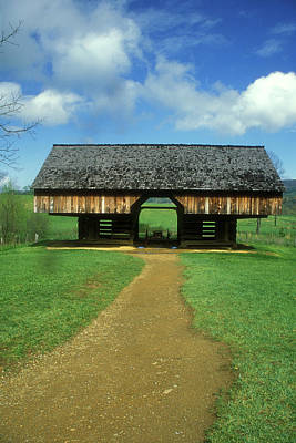 Photograph - Smoky Mountains Cantilever Barn by John Burk