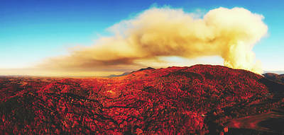 Photograph - Smoky Mountains Forest Fire by Unsplash