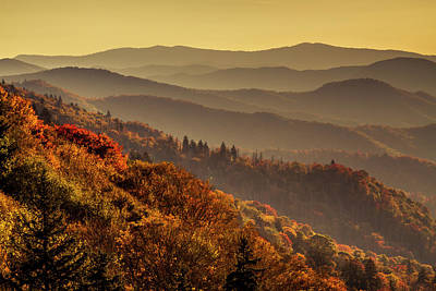 Photograph - Smoky Mountains In The Morning by Teri Virbickis