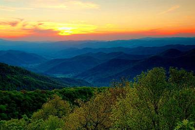 Photograph - Smoky Mountains Spring Sunset by Carol Montoya